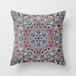 Hippie tech Throw Pillow