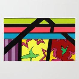 """""""Continue"""" 22"""" x 28"""" x 1.5"""" Montana Gold Spray Paint & Acrylic on Canvas  Rug"""