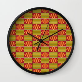 African kente pattern Wall Clock