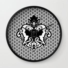 Detective's Damask Wall Clock