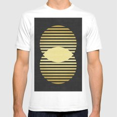 Golden forms IX Mens Fitted Tee White MEDIUM
