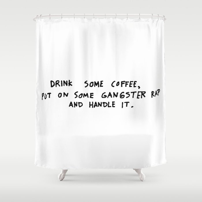 Coffee Shower Curtain By Typelover