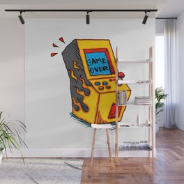 Vintage Arcade game Machine Wall Mural