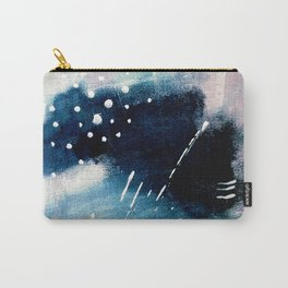 Meteor Shower - an abstract acrylic piece in blue and white Carry-All Pouch