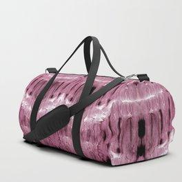 Mauve Moire' Shibori Duffle Bag