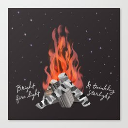 Bright fire light & twinkling starlight Canvas Print