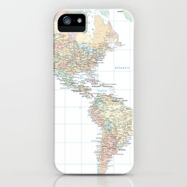 Clear World Map iPhone Case