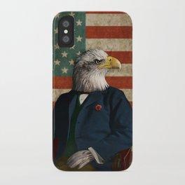 Official Portrait of Senator Silas Eagle iPhone Case