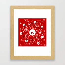 Medicine the scheme Framed Art Print