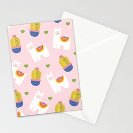 Llama Loves Pink Stationery Cards