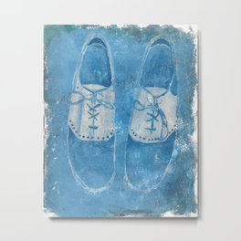 Blue Shoes Metal Print