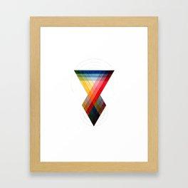 Geometric Color Blending Pattern Framed Art Print