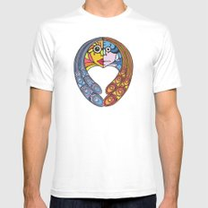 Atomos, The Indivisible MEDIUM White Mens Fitted Tee
