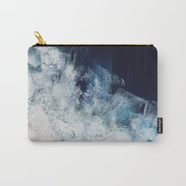 Pink navy, blush sands, ocean abstract Carry-All Pouch