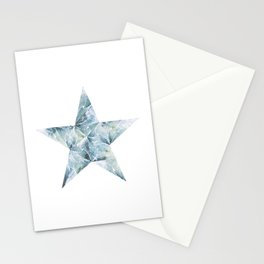 Frosted Star Stationery Cards