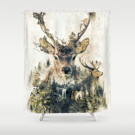 Deer Surrealism Shower Curtain