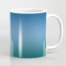 Blue Classic Green Light Dark Ombre Gradient Pattern Trendy Colors of Year 2020 Coffee Mug