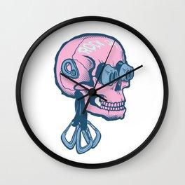 Rock On Skull Wall Clock