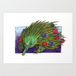 Christmas Tree Echidna Art Print