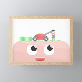 Head Lawn Mower Framed Mini Art Print