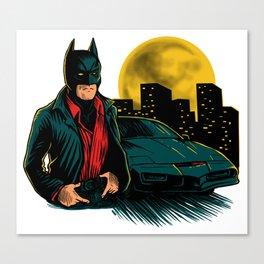Knight Rider Man Canvas Print