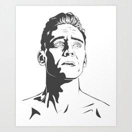 Tom Hiddleston as Coriolanus Art Print