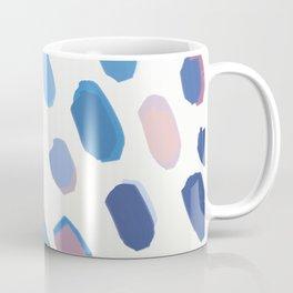 Blue Painted Dots Coffee Mug