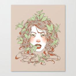 Peppermint Girl Canvas Print