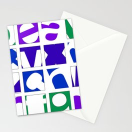 Cool Alpha Stationery Cards