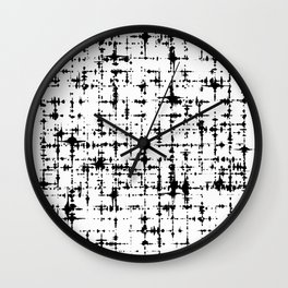 Black & White Abstract X Wall Clock