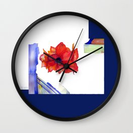 Maui Amaryllis Wall Clock