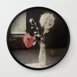 papavero kon soffione Wall Clock
