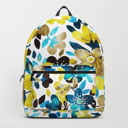 Happy Yellow Flower Collage Backpack