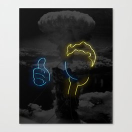 Nuclear Vault Boy Canvas Print