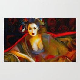 Geisha Sitting Rug