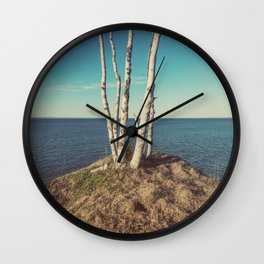 Trees on the Edge Wall Clock