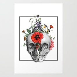 Flourish Skull Art Print