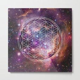 Flower of Life Sacred Geometry Metal Print