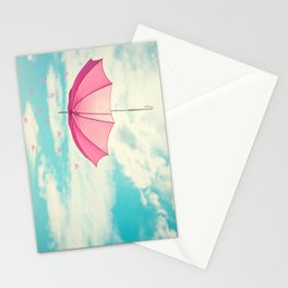 Raining Hearts Stationery Cards