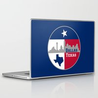 dallas Laptop & iPad Skins featuring Dallas Texas Skyline by Bruce Stanfield