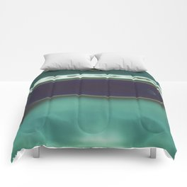 Instang Abstraction in Teal Comforters