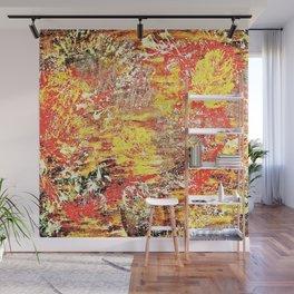Golden Autumn Abstract Wall Mural