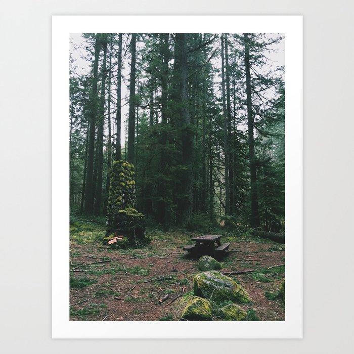 Unresolved Campsite Art Print