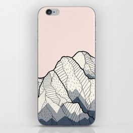 The sun and mountain iPhone Skin