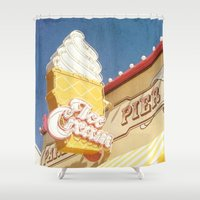 ice cream Shower Curtains featuring Ice Cream by Sam Skyler