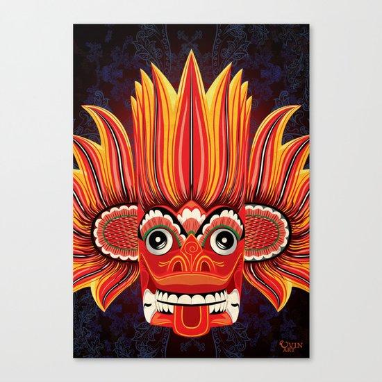 Sri Lankan Fire Demon Canvas Print