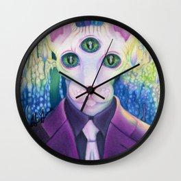 Kitty like light Wall Clock