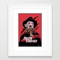 freddy krueger Framed Art Prints featuring Freddy Krueger by Victor Berbel