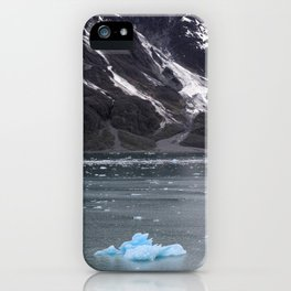 Alaska Snowy Mountain Cool Blue Icebergs iPhone Case