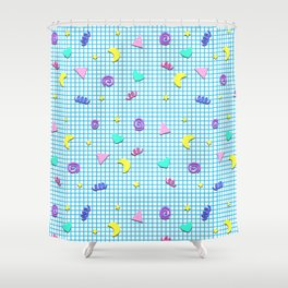 Confetti Grid Shower Curtain
